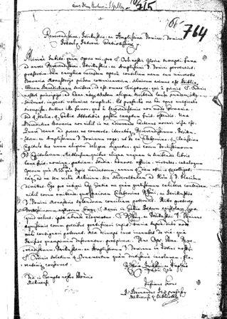 Rundschreiben von Bernhard Pez an zahlreiche Benediktinerklöster zur Werbung um Beiträge für seine Sammelwerke